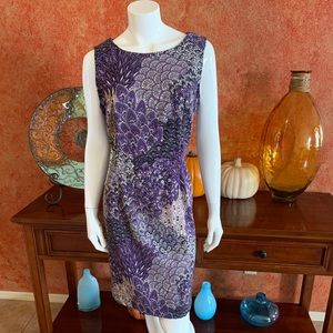Connected print dress